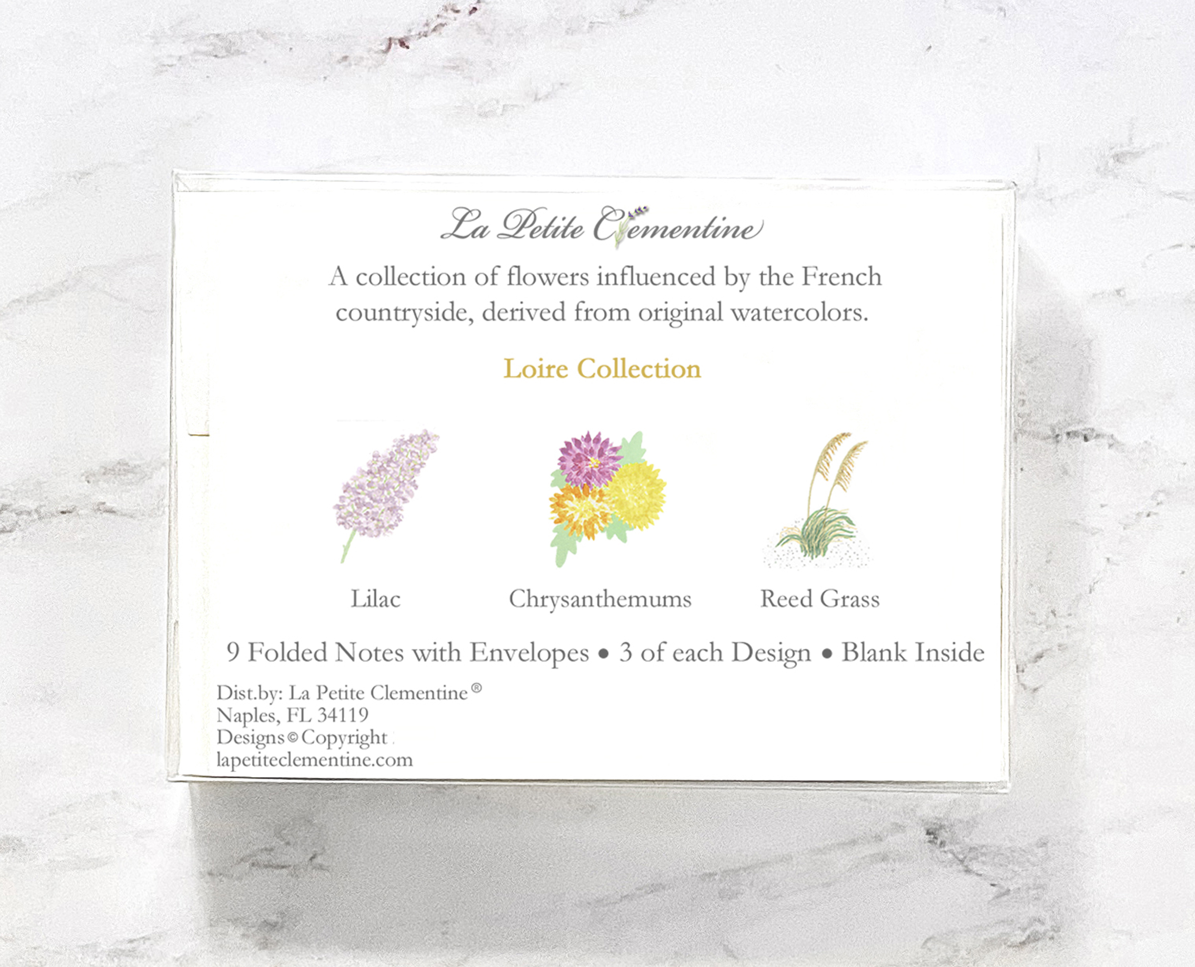 Loire watercolor stationery