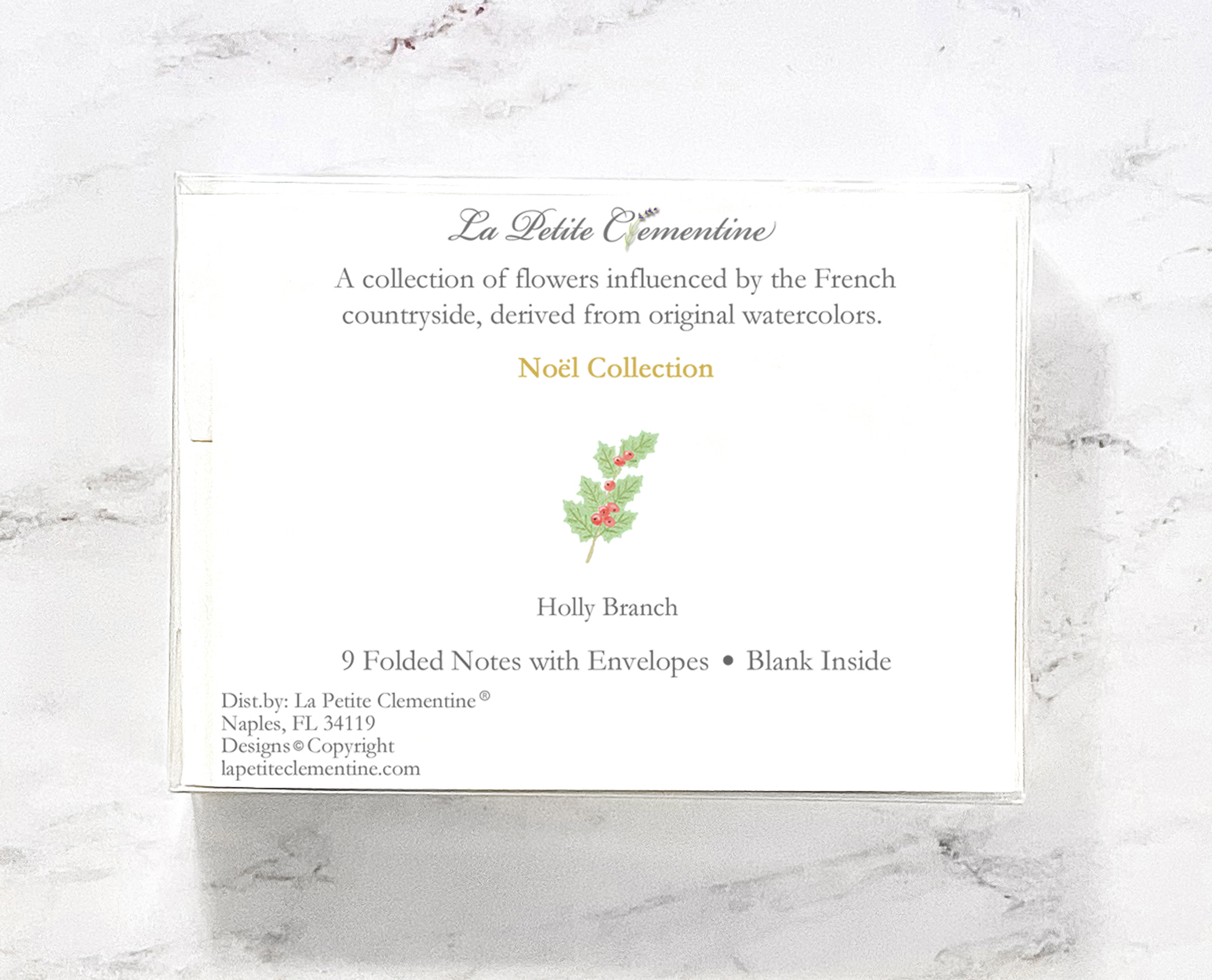 Holly watercolor stationery